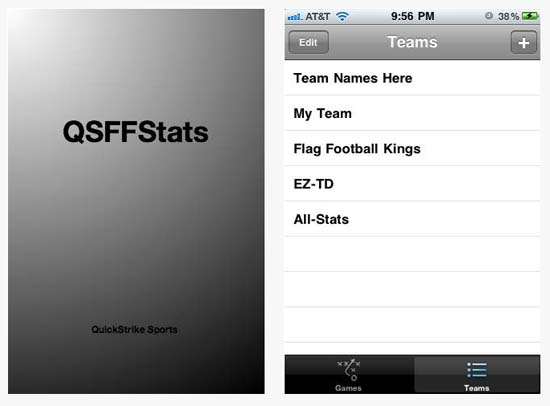 QSFFStats app will allow you to keep track of Flag Football stats for all passing leagues.