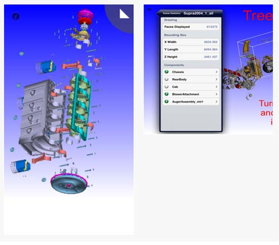 vueCAD is a professional, mobile CAD viewer and mark-up application.