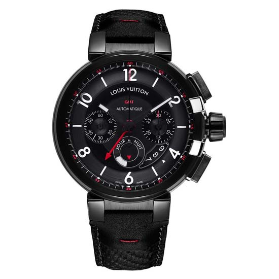 Louis-Vuitton-Tambour-eVolution-Chronograph-GMT-black