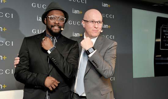 Will.i.am with Gucci CEO Marco Bizzarri