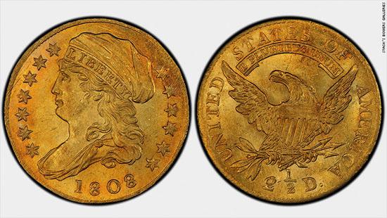 1808 Quarter Eagle Gold Coin Fetches $2.35 Million At Auction