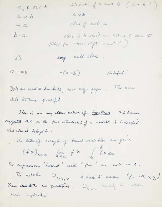 A page of Alan Turing's manuscript