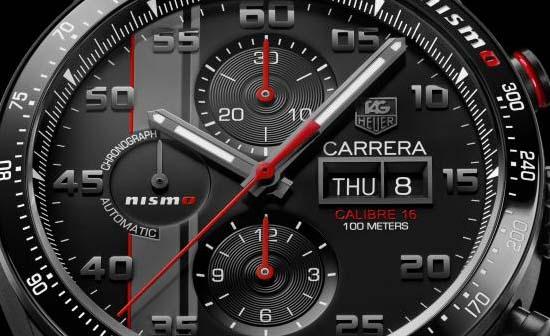 TAG-Heuer-Carrera-Nismo-Calibre-16-Le-Mans-dial