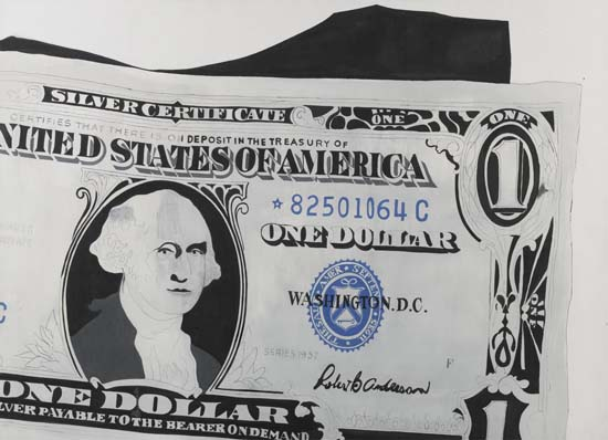 One Dollar Bill (Silver Certificate), Andy Warhol - Photo: Sotheby's London.
