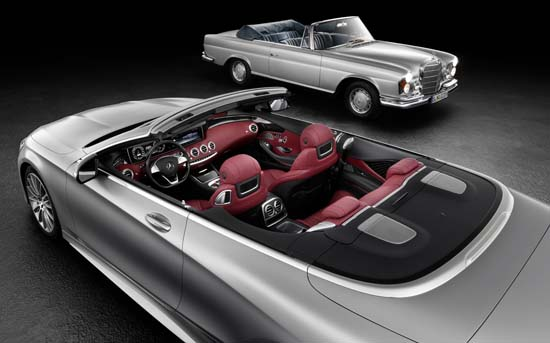 Mercedes-Benz S-Class Cabriolet with the S-Class Cabriolet W 111.