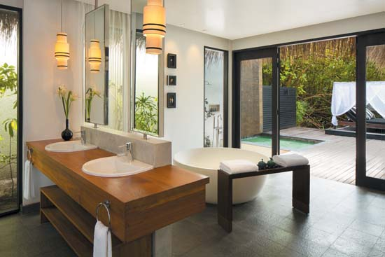 Outrigger-Konotta-Maldives-Resort-Double-Beach-Pool-Villa-Bathroom