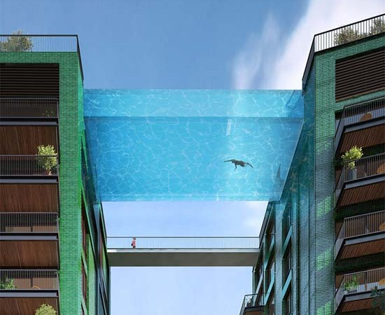 Amazing Glass-Bottomed Swimming Pool Will Bridge Two Residential Buildings in London