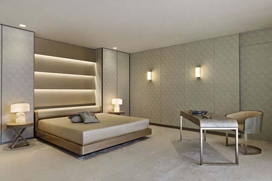 Armani Casa Florida master bedroom unit