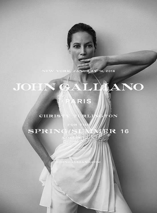 Christy Turlington for John Galliano SS 2016