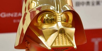 Solid Gold Darth Vader Mask