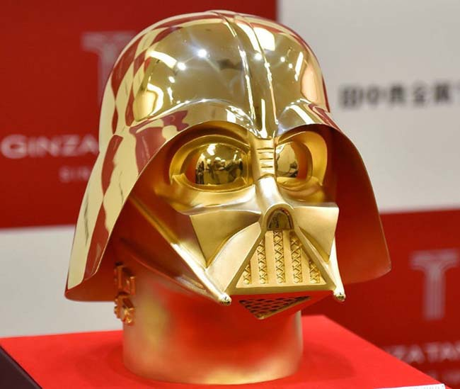Solid Gold Darth Vader Mask