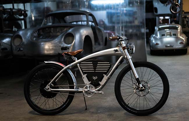 Vintage Electric x Emory Outlaw Tracker Bike