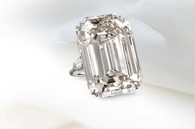 40-carat Marquise cut Lesotho III diamond ring from Harry Winston