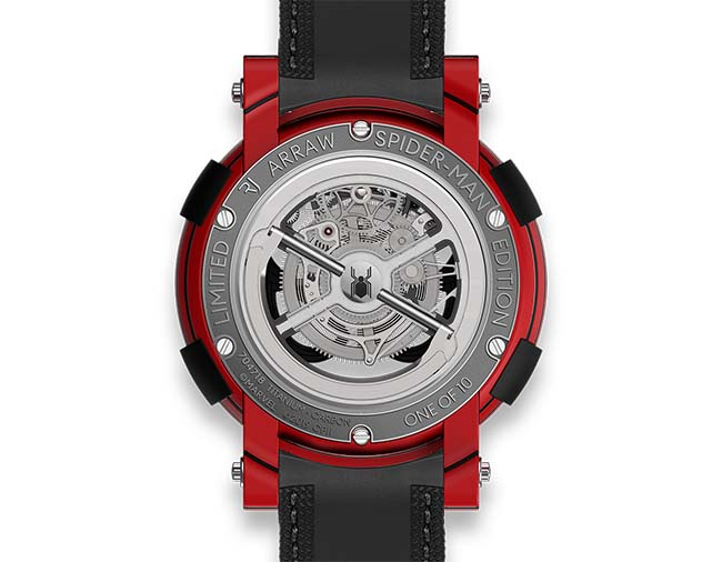 RJ ARRAW Spider-Man caseback