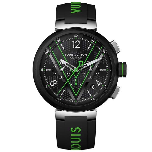 Tambour Damier Graphite Race chronograph