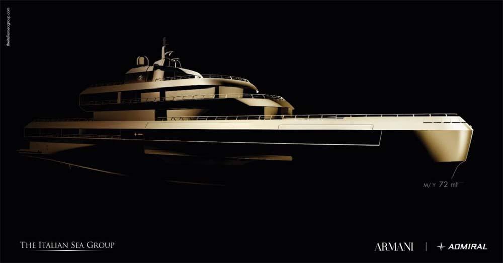 Giorgio Armani 72m Superyacht