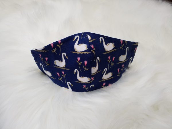 Swan & Water Lilly Filter Pocket Face Mask