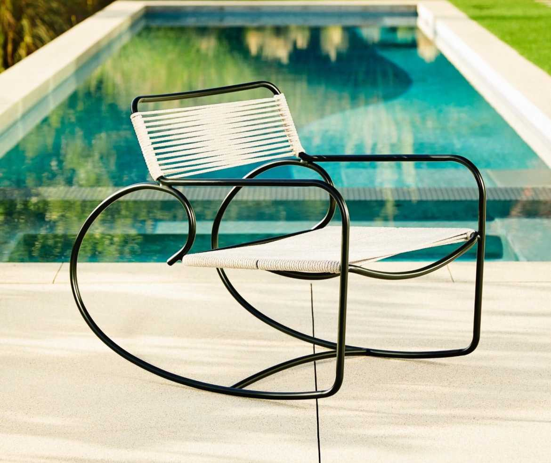 Brown Jordan Walter Lamb aluminum rocking chair, $915; available at Judith Norman