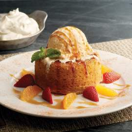 Pumpkin Spice Warm Butter Cake_ photo credit Mastro's Restaurants