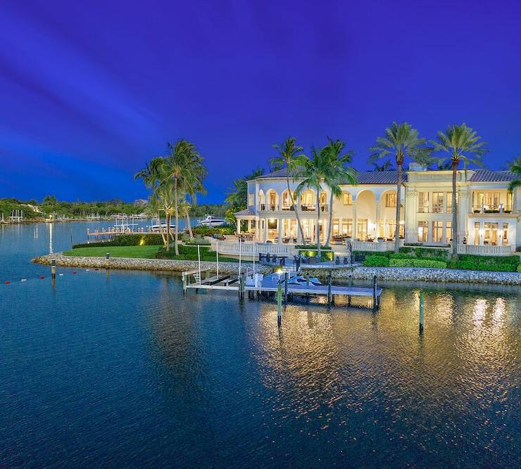 207 Commodore Drive, Palm Beach 5 bedroom, 8 bath; 11,974 sq. ft.; $11 million Listed by Rob Thomson; waterfront-properties.com