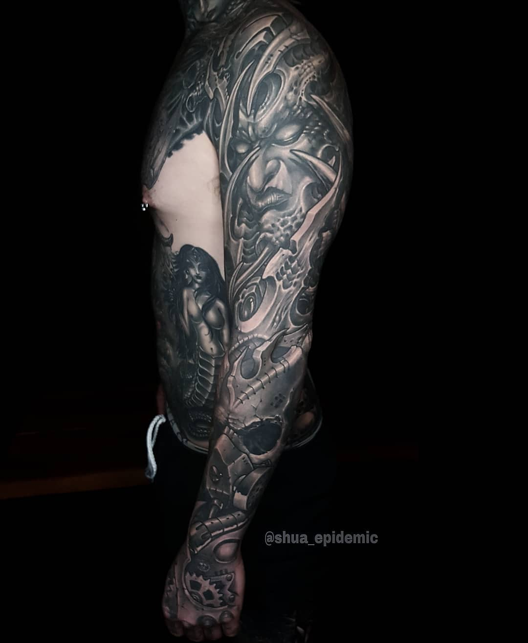 Luxury Ink Bali Tattoo Gallery Biomechanical Style112