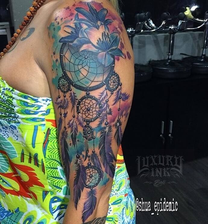Luxury Ink Bali Tattoo Gallery Watercolor style106