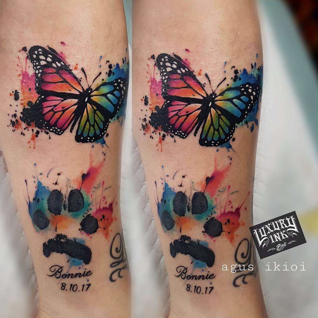 Luxury Ink Bali Tattoo Gallery Watercolor style109