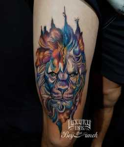 Luxury Ink Bali Tattoo Gallery Watercolor style116