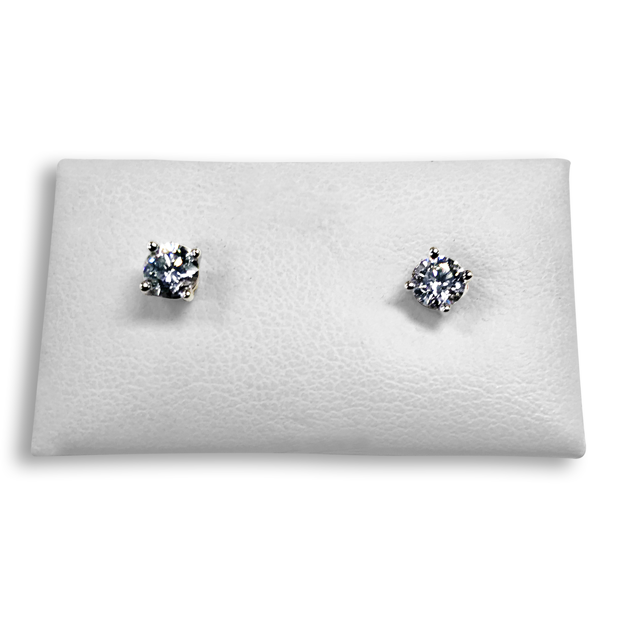 diamond stud in half white from earrings carat womens image gold