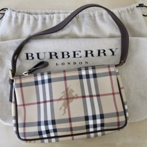 Burberry Nova Check Baguette Shoulder Bag