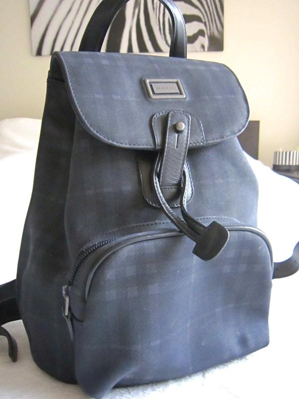 Burberry Nova Check Blue Classic Backpack