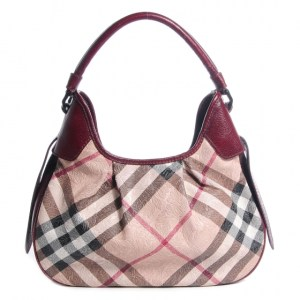 Burberry Nova Check Brooklyn Hobo Bag