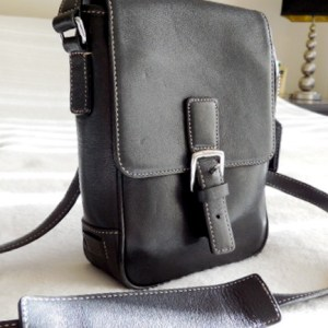 Coach Black Leather Messenger Bag