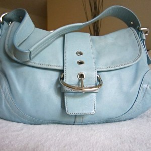 Coach Blue Leather Soho Hobo Bag