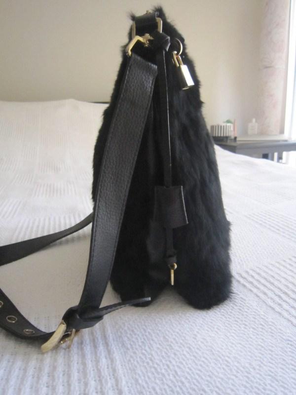 Di Piu Fur & Leather Messenger Bag-1