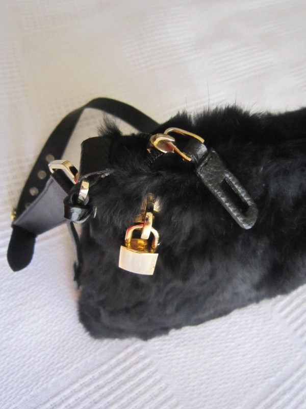 Di Piu Fur & Leather Messenger Bag-2