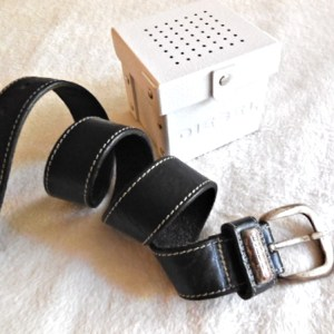 Diesel Black Boston Leather Belt