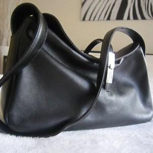 Furla Black Leather Hobo Bag