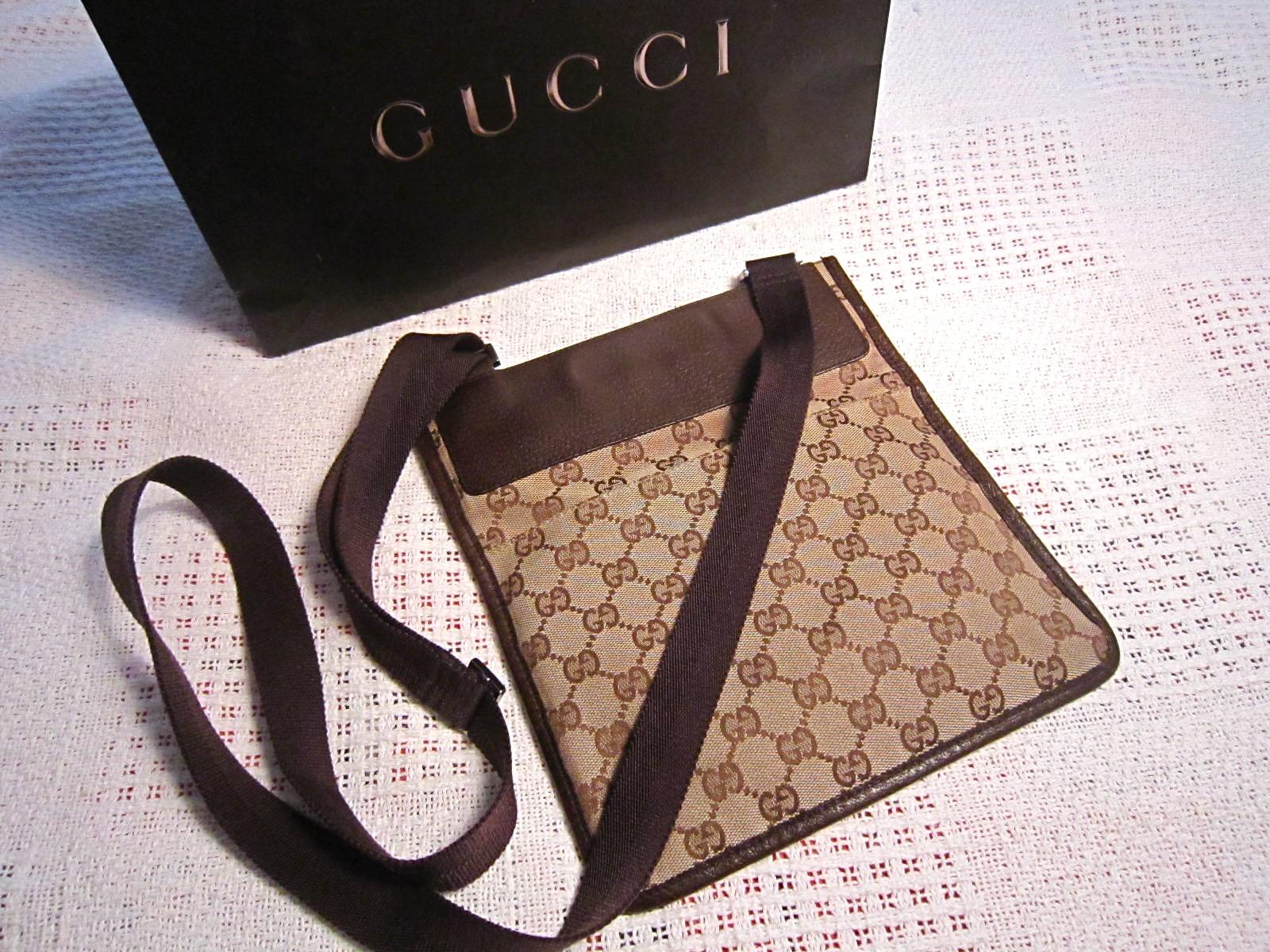 d1629c572 Gucci GG Flat Messenger Bag - Luxurylana Boutique