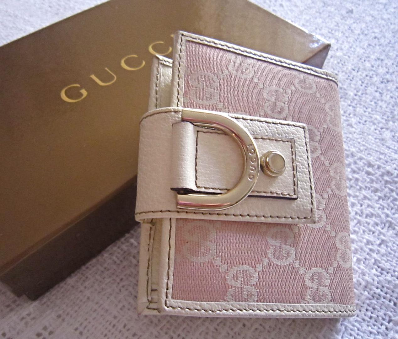 d6899d03390a Gucci GG Pink Abbey D-ring Wallet - Luxurylana Boutique