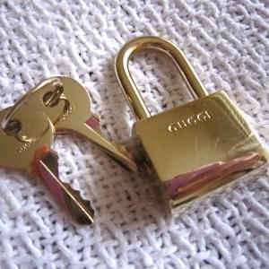 Gucci Lock and 2 Keys Set