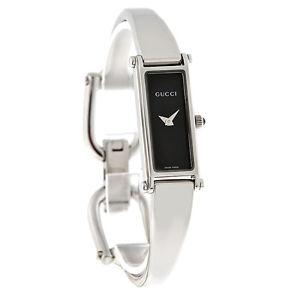Gucci Silver 1500 Black Dial Ladies Watch