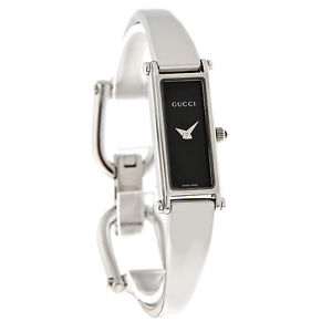 Gucci Silver 1500 Black Dial Ladies Watch