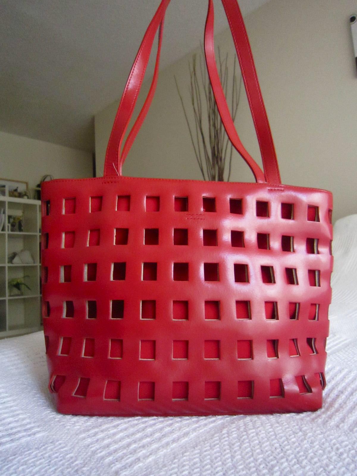 2a5404734638 Holt Renfrew Red Cage Tote - Luxurylana Boutique