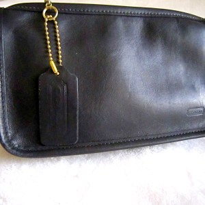 Coach Chunky Black Leather Pouch