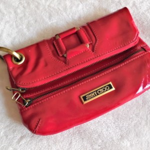 Jimmy Choo Red Patent Mave Clutch