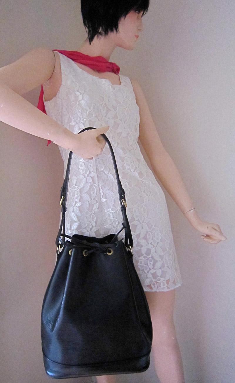 d96822a4e641 Louis Vuitton Large Black Epi Noe Handbag - Luxurylana Boutique