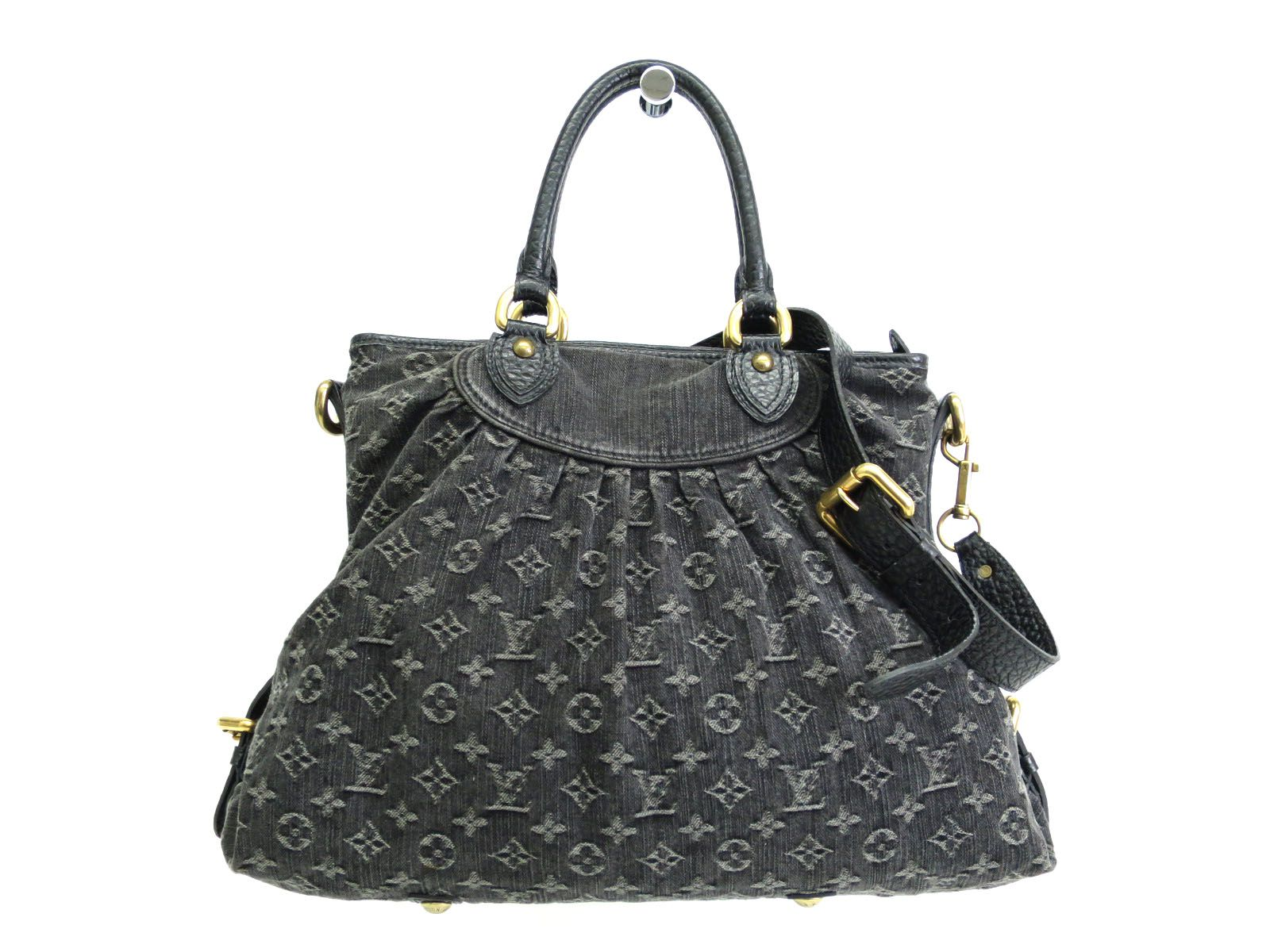 c744d14aad6a Louis Vuitton Black Monogram Denim Neo Cabby GM Shoulder Bag - Luxurylana  Boutique
