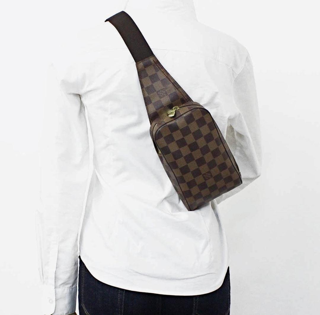 Louis Vuitton Damier Ebene Geronimos Cross Body Bag - Luxurylana ... 8ec4cfe907394