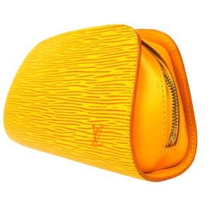 Louis Vuitton Douphine Yellow Epi Leather Pouch